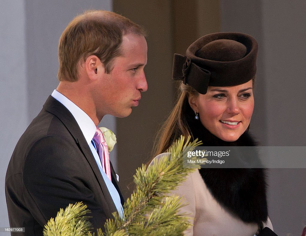 The Duke And Duchess Of Cambridge And Prince Harry Attend The Wedding Of Friends In Switzerland : News Photo