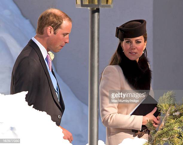 Prince William, Duke of Cambridge and Catherine, Duchess of Cambridge attend the wedding of Laura Bechtolsheimer and Mark Tomlinson at the Protestant...