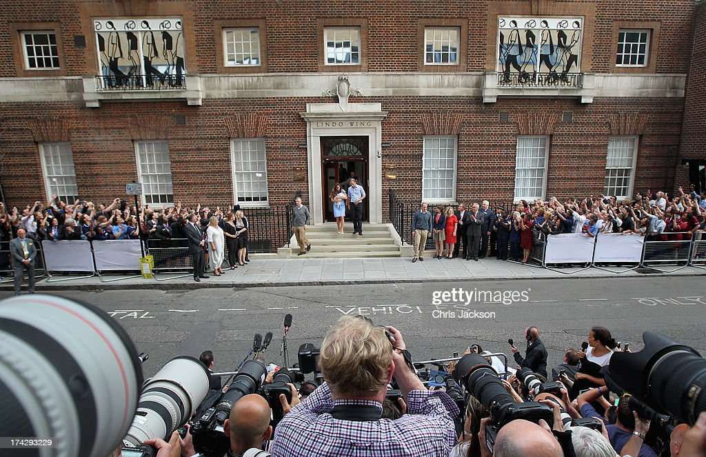 Duke And Duchess Of Cambridge Leave The Lindo Wing With Their Newborn Son