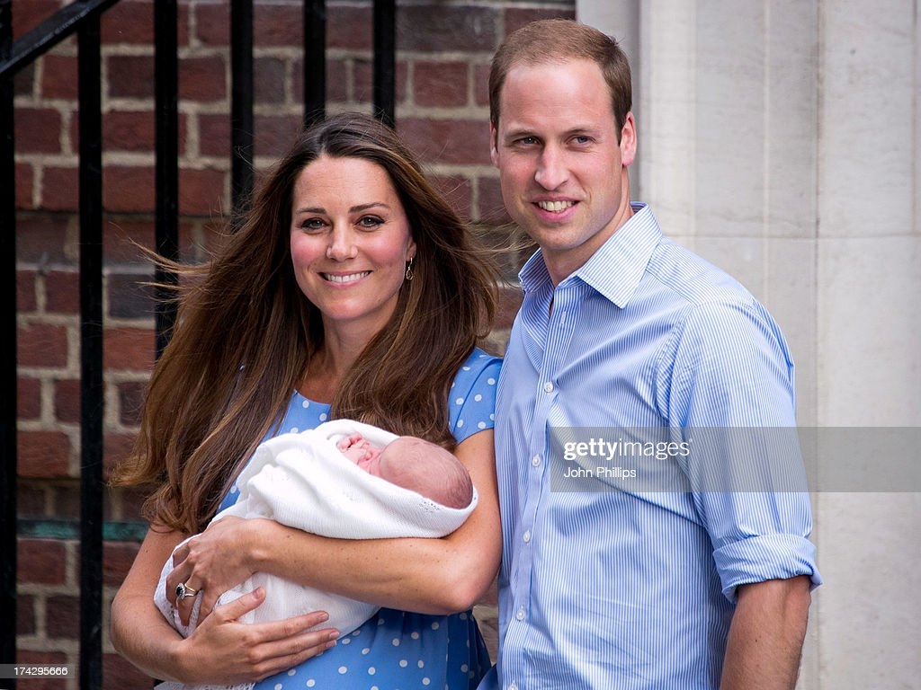The Duke & Duchess Of Cambridge Leave The Lindo Wing With Their Newborn Son