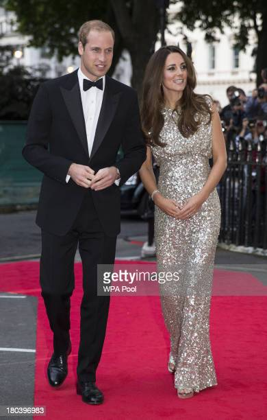 Prince William, Duke of Cambridge and Catherine, Duchess of Cambridge attend The Tusk Conservation Awards at The Royal Society on September 12, 2013...