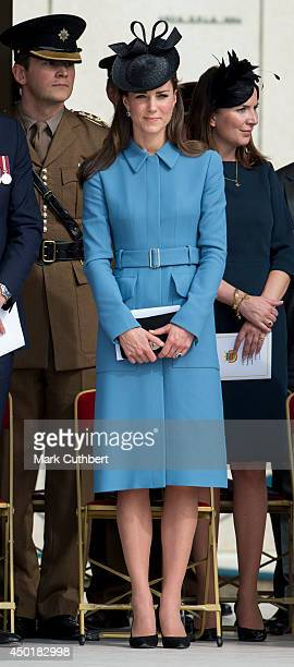 Prince William Duke of Cambridge and Catherine Duchess of Cambridge at a commemoration of the Normandy Landings at Gold Beach during the D Day 70...