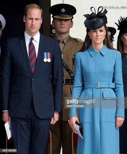 Prince William, Duke of Cambridge and Catherine, Duchess of Cambridge at a commemoration of the Normandy Landings at Gold Beach, during the D Day 70...
