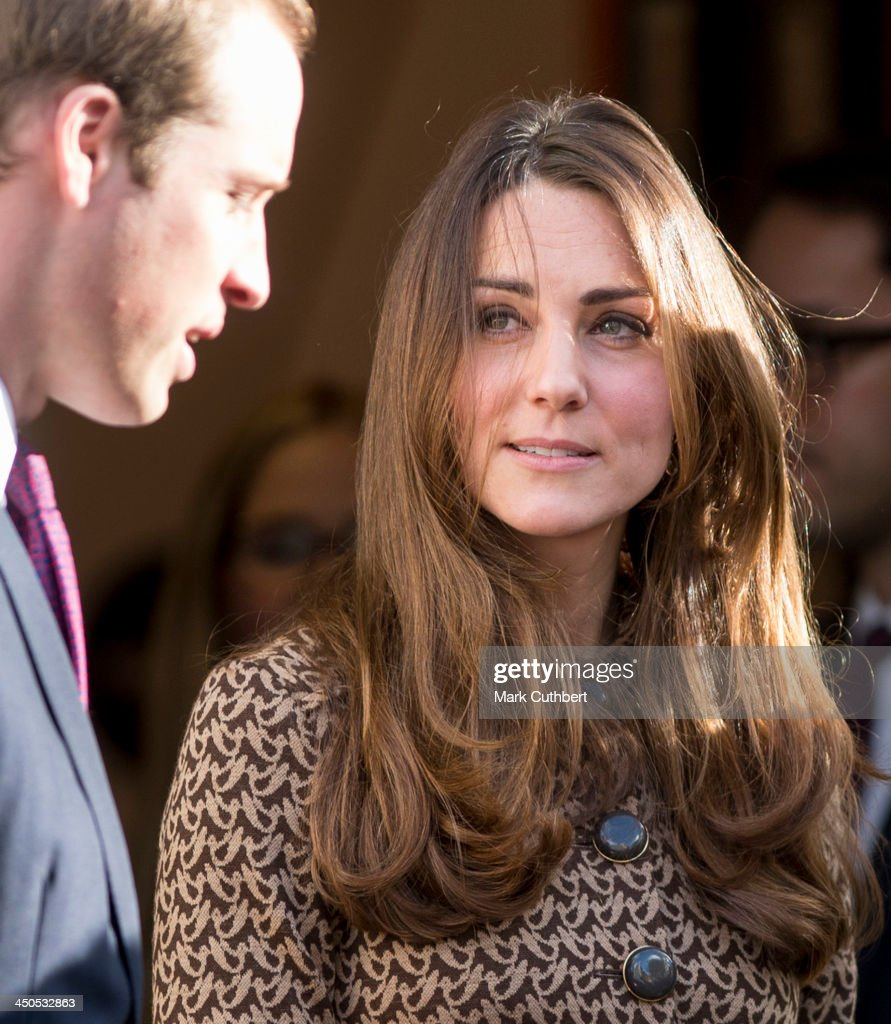 Prince William, Duke of Cambridge and Catherine, Duchess of Cambridge during a visit to the Only Connect and ex-offenders projects on November 19, 2013 in London, England.