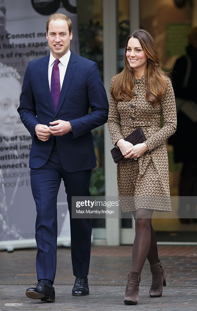 Prince William, Duke of Cambridge and Catherine, Duchess of Cambridge visit Only Connect and ex-offenders projects on November 19, 2013 in London, England.