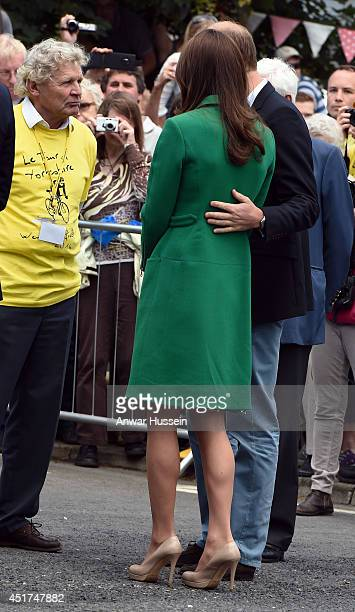 Prince William, Duke of Cambridge and Catherine, Duchess of Cambridge visit a Yorkshire village celebrating the Stage 1 route of the Tour de France...