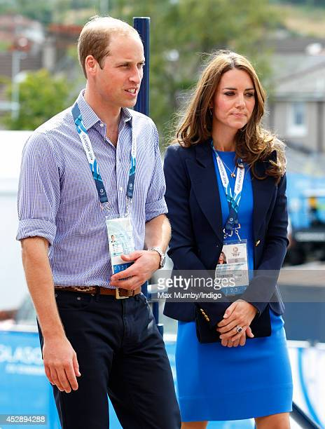 Prince William Duke of Cambridge and Catherine Duchess of Cambridge arrive at Hampden Park to watch the athletics during the 20th Commonwealth Games...