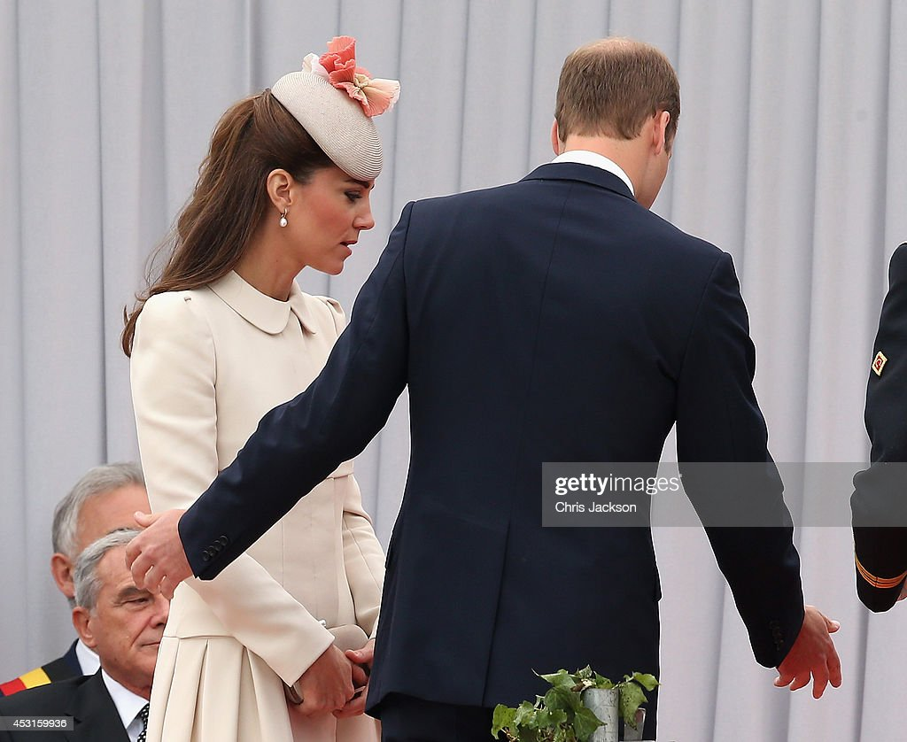 The Duke & Duchess Of Cambridge Attend A Service Of Remembrance : News Photo