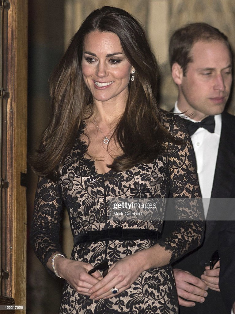Prince William, Duke of Cambridge and Catherine, Duchess of Cambridge leave after a screening of David Attenborough's Natural History Museum Alive 3D at Natural History Museum on December 11, 2013 in London, England.