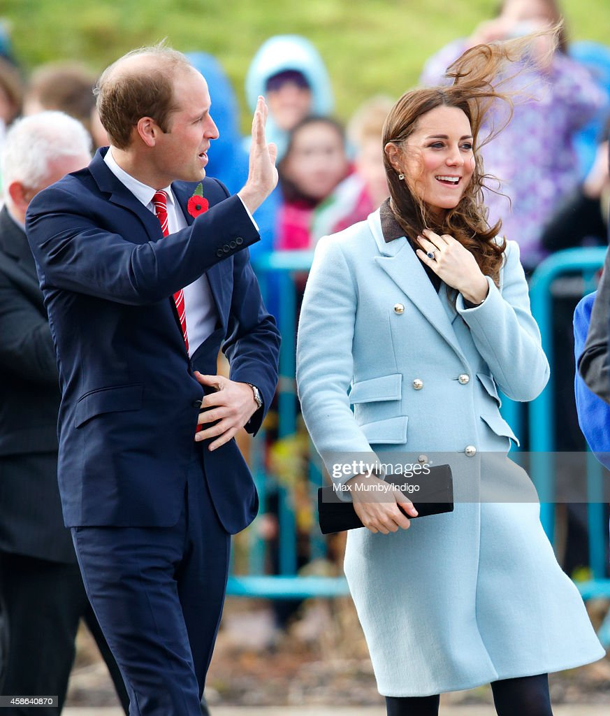 Prince William, Duke of Cambridge and Catherine, Duchess of Cambridge visit Pembroke Refinery on November 8, 2014 in Pembroke, Wales.