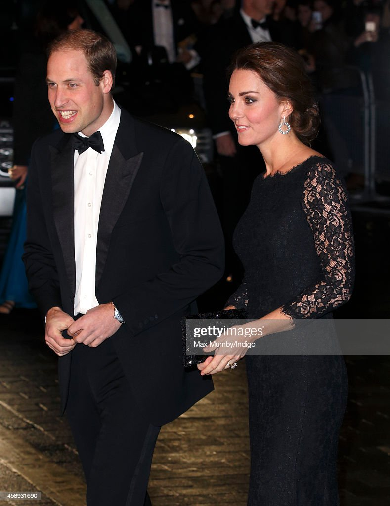 Prince William, Duke of Cambridge and Catherine, Duchess of Cambridge attend the Royal Variety Performance at the London Palladium on November 13, 2014 in London, England.