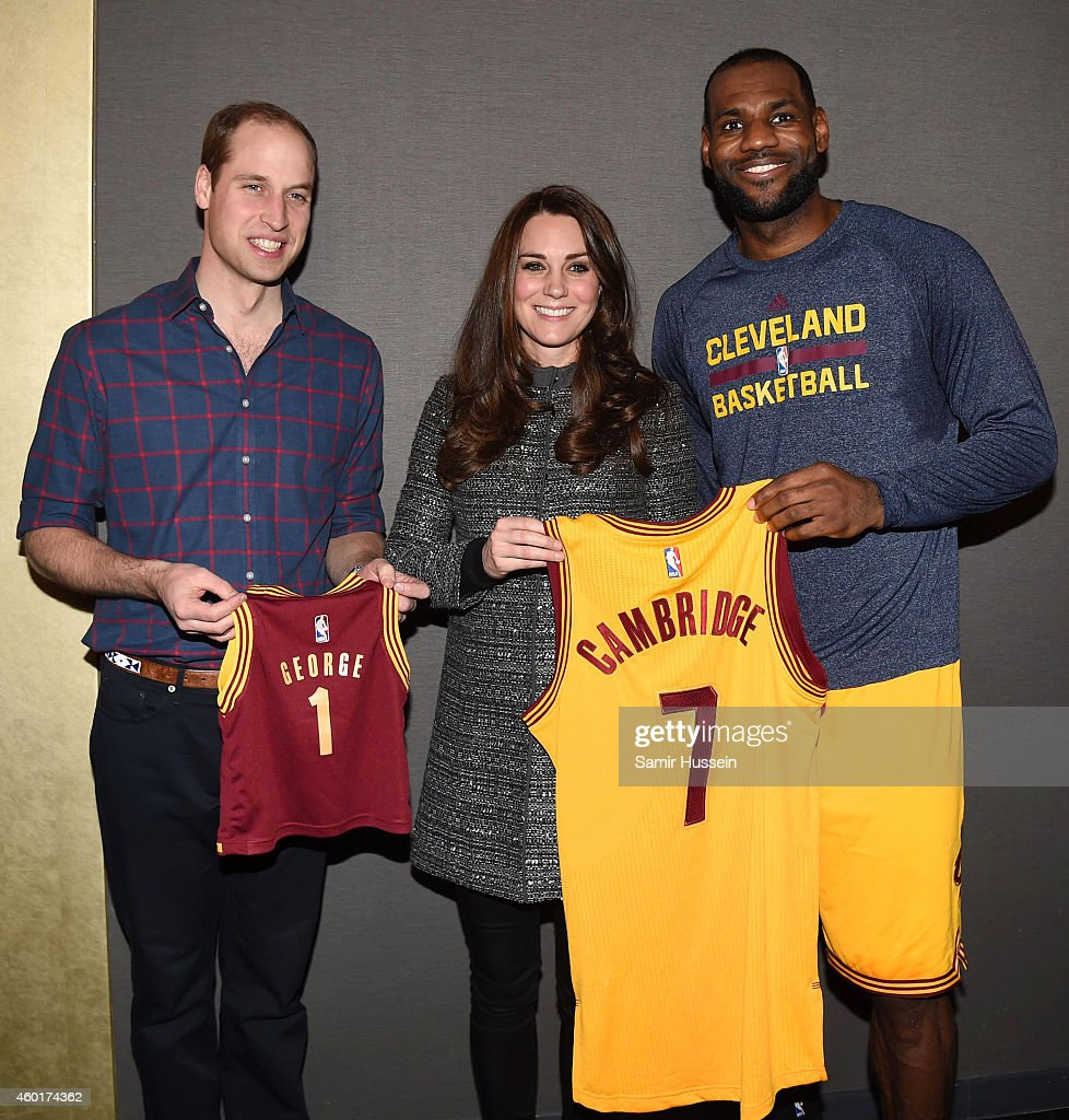 The Duke And Duchess Of Cambridge Attend Brooklyn Nets Vs. Cleveland Cavaliers : News Photo