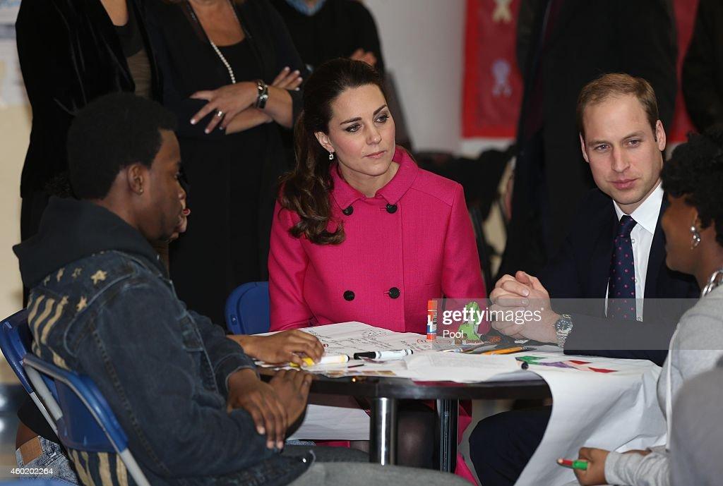 The Duke And Duchess Of Cambridge Visit The Door : News Photo