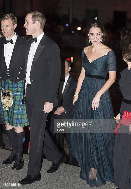 Prince William Duke of Cambridge and Catherine Duchess of Cambridge arrive at Metropolitan Museum of Art to attend the St Andrews 600th Anniversary...