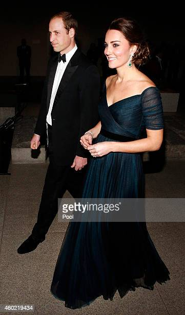 Prince William Duke of Cambridge and Catherine Duchess of Cambridge attend the St Andrews 600th Anniversary Dinner at Metropolitan Museum of Art on...
