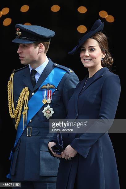 Prince William Duke of Cambridge and Catherine Duchess of Cambridge depart a Service of Commemoration for troops who were stationed in Afghanistan on...