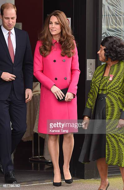 Prince William, Duke of Cambridge and Catherine, Duchess of Cambridge visits the Stephen Lawrence Centre, Deptford, to tour the facility and meet...