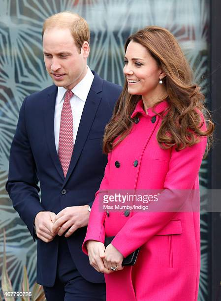 Prince William Duke of Cambridge and Catherine Duchess of Cambridge visit the Stephen Lawrence Centre Deptford during a day of engagements to support...