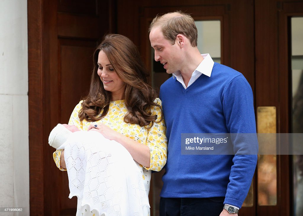 The Duke And Duchess Of Cambridge Depart The Lindo Wing With Their Daughter : News Photo