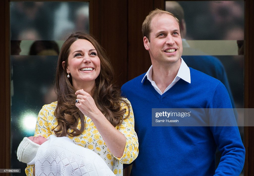 The Duke And Duchess Of Cambridge Depart The Lindo Wing With Thier Second Child : News Photo