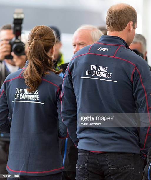 Prince William Duke of Cambridge and Catherine Duchess of Cambridge at the Portsmouth Historical Dockyard as they attend the America's Cup World...