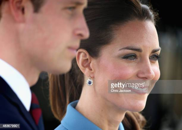 Prince William Duke of Cambridge and Catherine Duchess of Cambridge visit to Omaka Aviation Heritage Centre on Day 4 of a Royal Tour to New Zealand...
