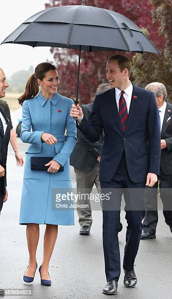 Prince William, Duke of Cambridge and Catherine, Duchess of Cambridge visit Omaka Aviation Heritage Centre on Day 4 of a Royal Tour to New Zealand on...