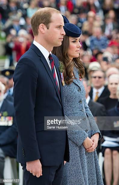 Prince William Duke of Cambridge and Catherine Duchess of Cambridge attend the ANZAC Day commemorative service at the Australian War Memorial on...