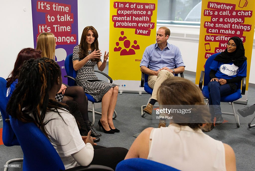 The Duke & Duchess Of Cambridge Mark World Mental Health Day : News Photo