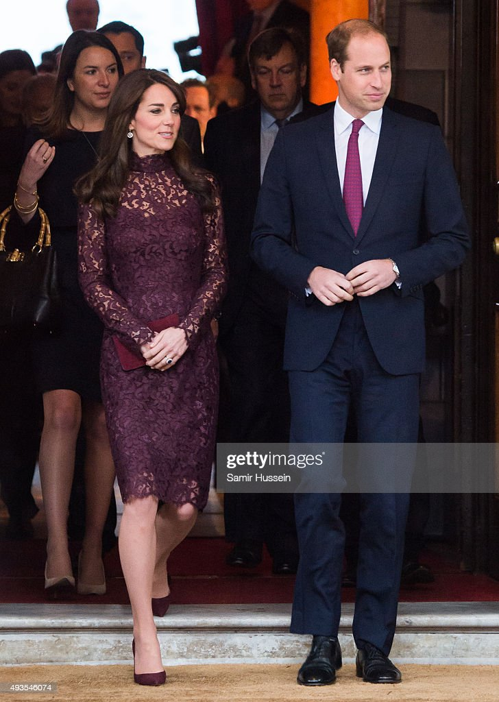 Prince William, Duke of Cambridge and Catherine, Duchess of Cambridge attend a creative industry event to celebrate cultural collaboration between the UK and China at Lancaster House on October 21, 2015 in London, England.