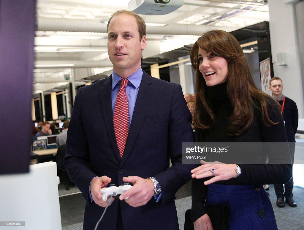 The Duke And Duchess Of Cambridge Visit Dundee : News Photo
