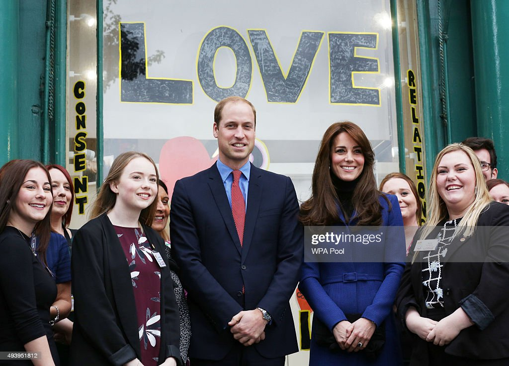 Prince William, Duke of Cambridge and Catherine, Duchess of Cambridge are seen during their visit to the events venue The Shore as part of an away day to the Scottish City on October 23, 2015 in Dundee, Scotland. They met leaders in the Scottish mental Health sector organised by Scotland In Mind.