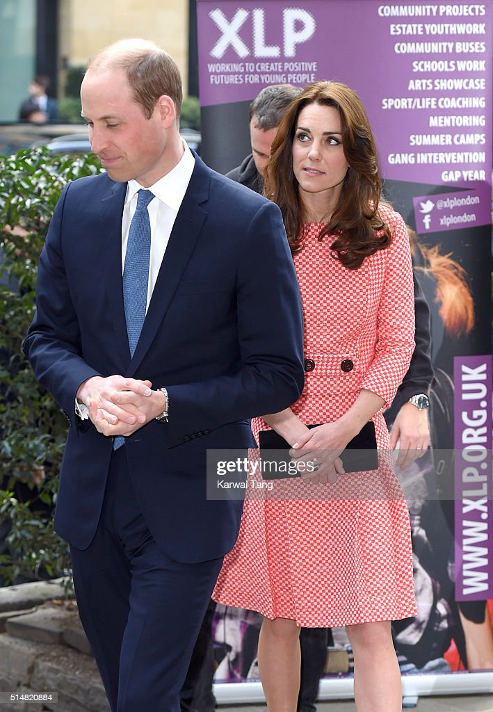 Prince William, Duke of Cambridge and Catherine, Duchess of Cambridge visit the mentoring programme of the XLP project at London Wall on March 11, 2016 in London, England. XLP supports young people who are facing emotional, behavioural and relational challenges.