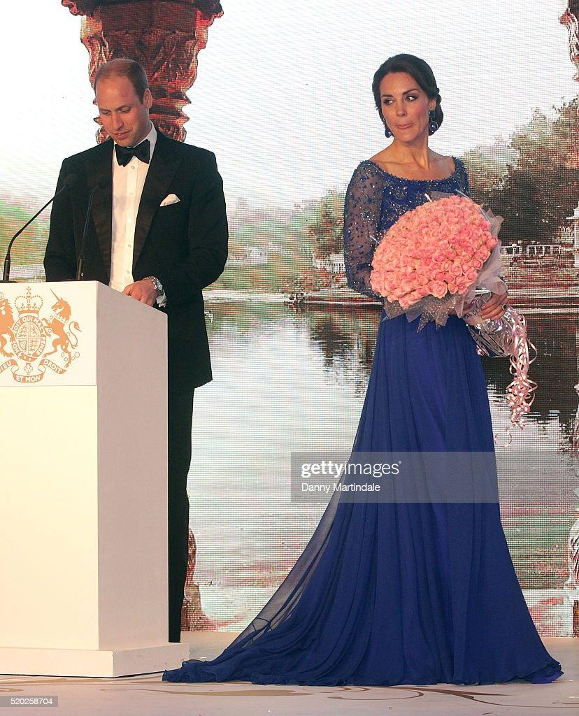 The Duke & Duchess Of Cambridge Visit India & Bhutan - Day 1 : News Photo
