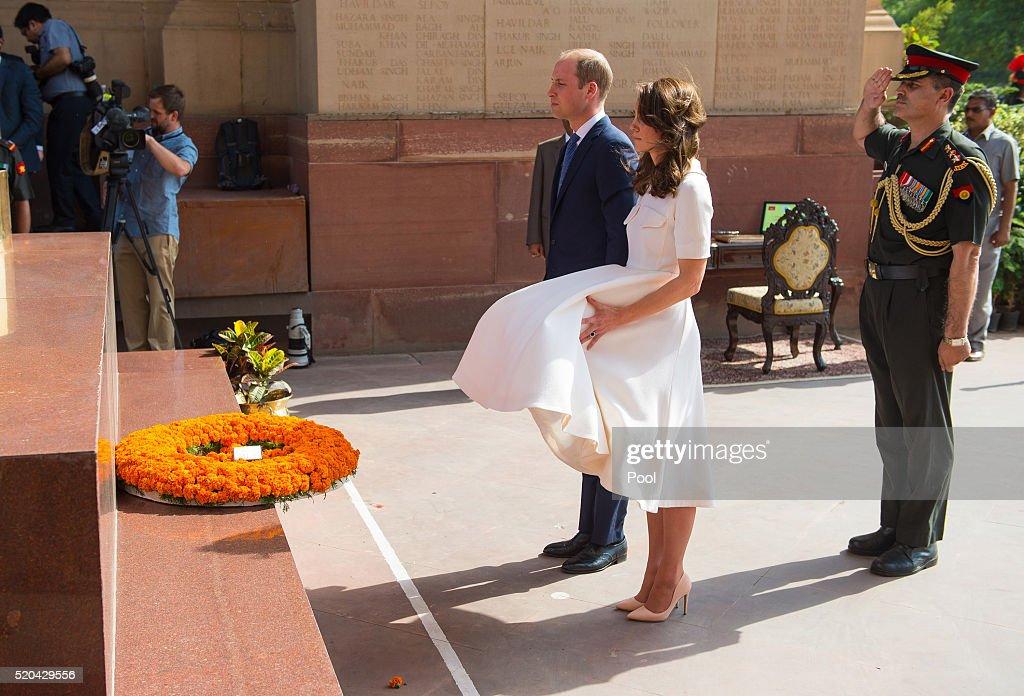 The Duke & Duchess Of Cambridge Visit India & Bhutan - Day 2 : News Photo