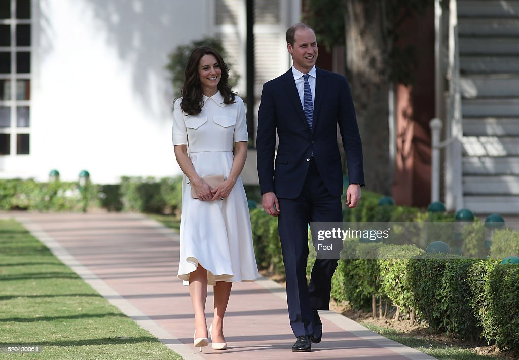 Prince William, Duke of Cambridge and Catherine, Duchess of Cambridge visit the Old Birla House museum, during day 2 of the royal visit to India and Bhutan on April 11, 2016 in New Delhi, India. The Duke and Duchess of Cambridge are on a week-long tour of India and Bhutan taking in Mumbai, Delhi, Assam, Bhutan and Agra.
