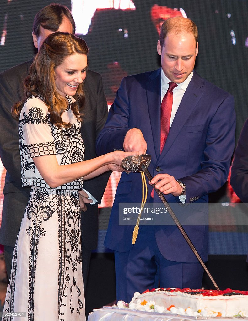 The Duke & Duchess Of Cambridge Visit India & Bhutan - Day 2 : News Photo