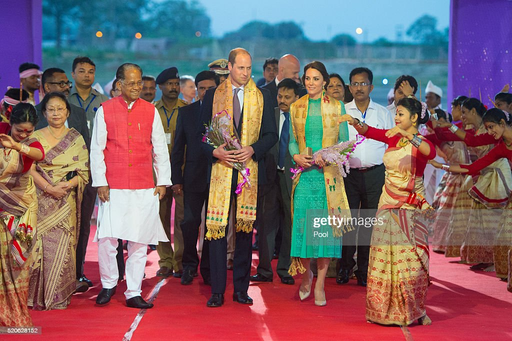 The Duke & Duchess Of Cambridge Visit India & Bhutan - Day 3 : News Photo