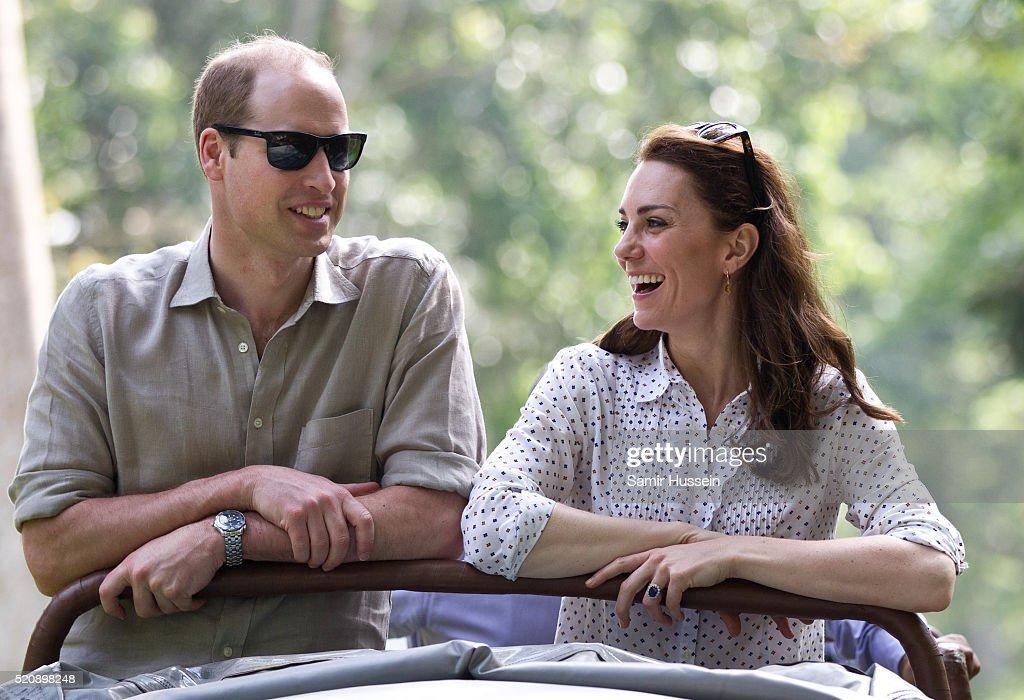 The Duke & Duchess Of Cambridge Visit India & Bhutan - Day 4 : Photo d'actualité