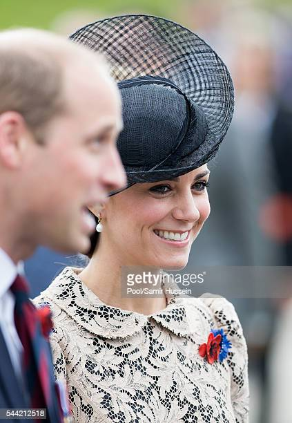 Prince William Duke of Cambridge and Catherine Duchess of Cambridge attend the commemoration of the Battle of the Somme at the Commonwealth War...
