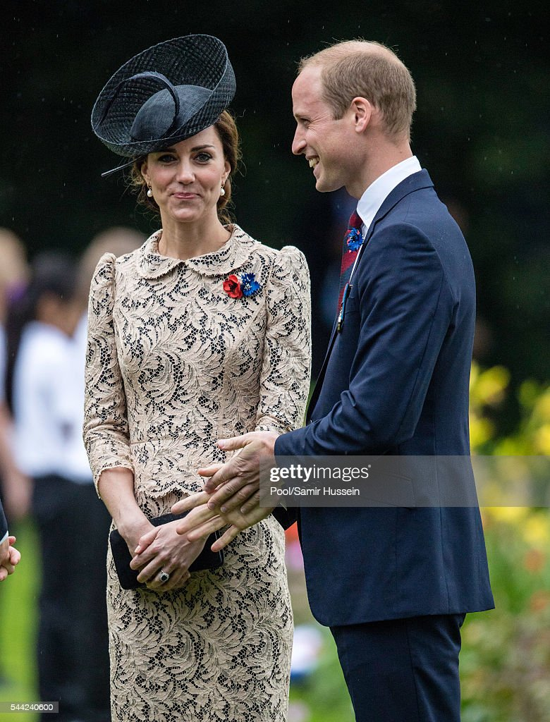 Prince William, Duke of Cambridge and Catherine, Duchess of Cambridge attend the commemoration of the Battle of the Somme at the Commonwealth War Graves Commission Thiepval Memorial on July 1, 2016 in Thiepval, France.