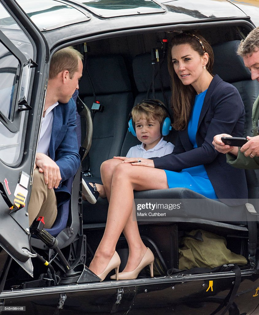 The Duke & Duchess Of Cambridge Visit The Royal International Air Tattoo : News Photo