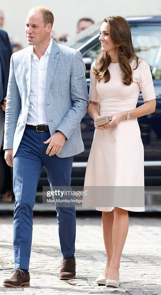 Prince William, Duke of Cambridge and Catherine, Duchess of Cambridge visit Truro Cathedral on September 1, 2016 in Truro, England.