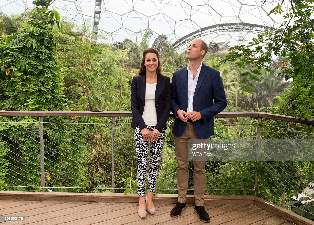 The Duke And Duchess Of Cambridge Visit Eden Project : News Photo
