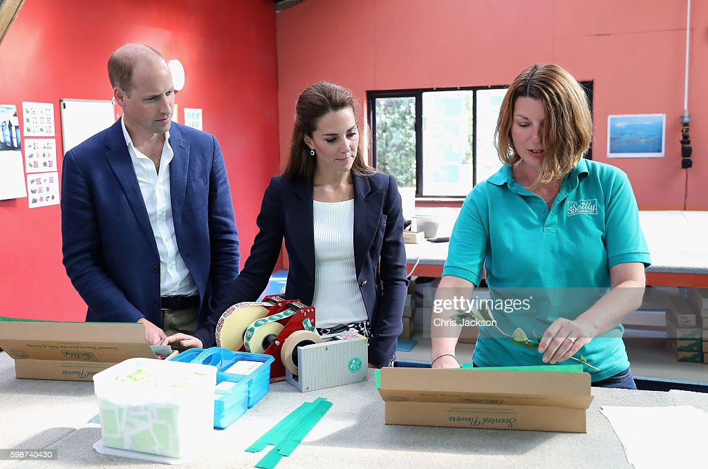 The Duke And Duchess Of Cambridge Visit The Isles Of Scilly : News Photo