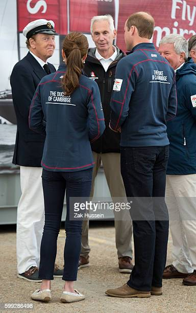 Prince WIlliam Duke of Cambridge and Catherine Duchess of Cambridge visits the New Zealand team HQ during a visit to The America's Cup World Series...