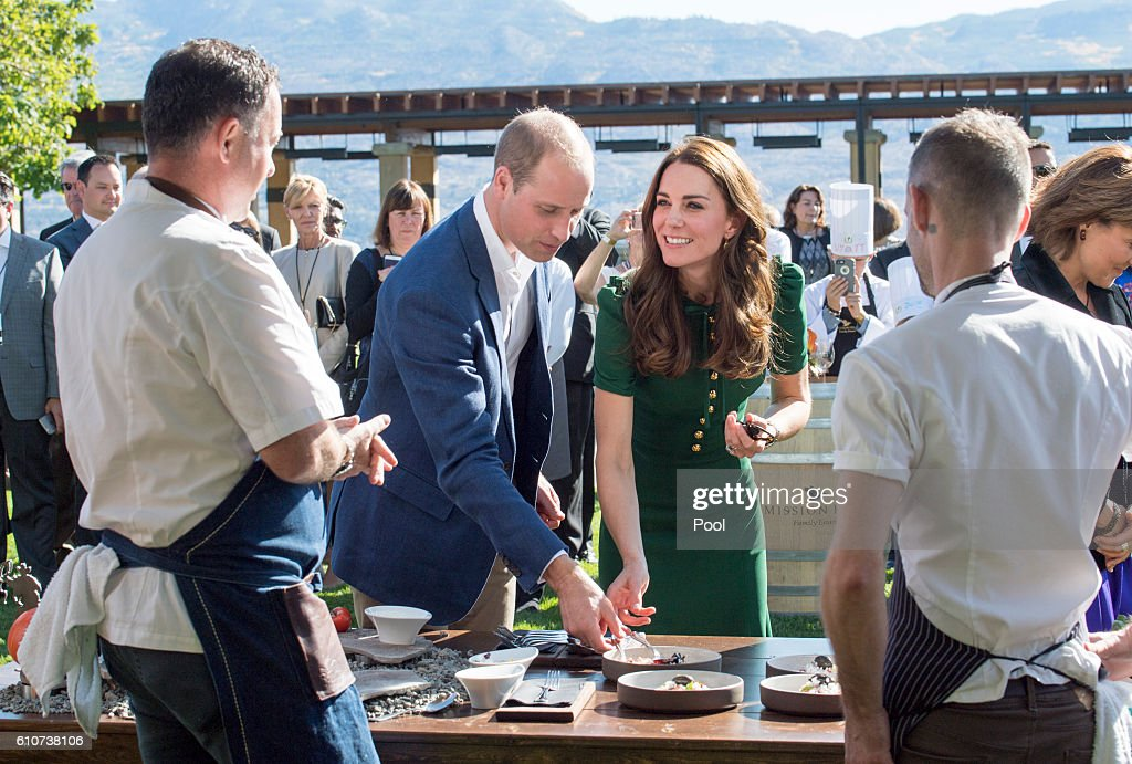 Prince William, Duke of Cambridge and Catherine, Duchess of Cambridge attend a Taste of British Columbia community event at Mission Hill Winery on September 27, 2016 in Kelowna, Canada. Prince William, Duke of Cambridge, Catherine, Duchess of Cambridge, Prince George and Princess Charlotte are visiting Canada as part of an eight day visit to the