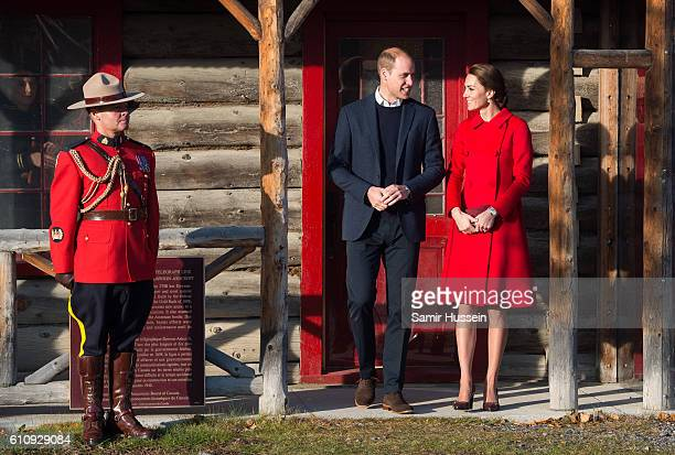 Prince William, Duke of Cambridge and Catherine, Duchess of Cambridge visit the MacBride Museum on September 28, 2016 in Whitehorse, Canada.