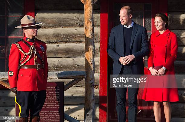 Prince William Duke of Cambridge and Catherine Duchess of Cambridge visit the MacBride Museum on September 28 2016 in Whitehorse Canada