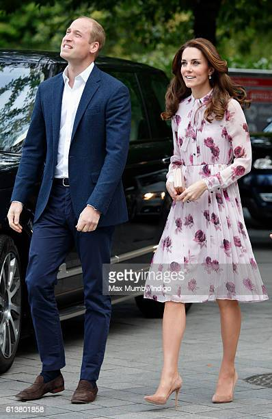 Prince William Duke of Cambridge and Catherine Duchess of Cambridge attend the World Mental Health Day celebration with Heads Together at the London...